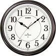 【送料無料】カシオ 電波時計 壁掛け時計 アナログ 掛け時計 アラビア数字 ブラウン 茶(CL11OC07BRW) 秒針停止機能 LEDライト付き カシオ CASIO 電波時計 掛け時計
