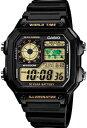 カシオ スポーツウォッチ 10気圧防水 メンズ デジタル 腕時計 チープカシオ チプカシ(AE12SPP-302BLK2)ストップウォッチ カウントダウンタイマー 10年電池 LEDライト付き ランニングウォッチ カシオ CASIO 海外限定 マラソン ランニング 時計