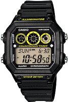 【ランニングウォッチ】カシオスポーツウォッチ10気圧防水腕時計(A14FBP-202BKYE)10年電池サッカー対応ストップウォッチ搭載ランニングウォッチカシオCASIO海外モデルマラソンランニングウォッチ時計