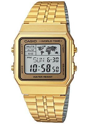 カシオ スポーツウォッチ メンズ デジタル 腕時計 ゴールド 金 チープカシオ チプカシ(WA14DEP-104GLD)ワールドタイム ストップウォッチ カウントダウンタイマー LEDライト付き ランニングウォッチ CASIO 海外限定 マラソン ランニング 時計