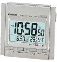 カシオ 電波時計 トラベルクロック コンパクト 置時計 デジタル 目覚まし時計 おしゃれな シルバー 銀(CL15OC01SLV)スヌーズ機能 アラーム 日付 曜日 カレンダー 温度 湿度計 LED ライト付き 見やすい 大型液晶 静かな CASIO 電波 置き時計 旅行用 目覚まし時計