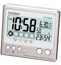 【送料無料】カシオ 電波時計 置時計 デジタル 目覚まし時計 日付・曜日 カレンダー アラーム スヌーズ(CL15JU05SLV) 温度 湿度計 LEDライト付き 大型液晶 カシオ CASIO 電波時計 目覚まし時計