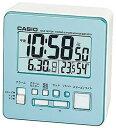 カシオ 電波時計 コンパクト 置時計 デジタル 目覚まし時計 おしゃれな ブルー 青 (CL15JL04BU) スヌーズ アラーム 日付 曜日 カレンダー 温度 湿度計 LED ライト付き 見やすい 大型液晶 静かな トラベルクロック CASIO 小型 電波置き時計 旅行用 目覚まし時計