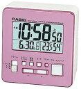 カシオ 電波時計 コンパクト 置時計 デジタル 目覚まし時計 おしゃれな ピンク (CL15JL05) スヌーズ アラーム 日付 曜日 カレンダー 温度 湿度計 LED ライト付き 見やすい 大型液晶 静かな トラベルクロック CASIO 電波 置き時計 旅行用 目覚まし時計