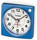 カシオ 電波時計 コンパクト 置時計 アナログ 目覚まし時計 おしゃれな ブルー 青(CL15JU31BLU)アラビア数字 アラーム スヌーズ 秒針 音がしない 秒針停止機能 見やすい ライト付き 静かな トラベルクロック CASIO 電波 置き時計 旅行用 目覚まし時計