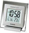 カシオ トラベルクロック コンパクト 置き時計 おしゃれな デジタル 目覚まし時計(SCL16FB14SLV) アラーム スヌーズ機能 日付 曜日 カレンダー 温度計 LED ライト付き 見やすい 大型液晶 CASIO 旅行用 目覚まし時計