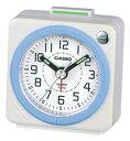 カシオ トラベルクロック コンパクト 置き時計 アナログ 目覚まし時計 おしゃれな ホワイト 白(SCL16FB19WHT)アラビア数字 アラーム スヌーズ機能 ライト付き CASIO 旅行用 目覚まし時計