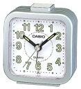 カシオ トラベルクロック コンパクト 置き時計 アナログ 目覚まし時計 おしゃれな メタリック シルバー 銀(SCL16FB20SLV)アラビア数字 アラーム CASIO 旅行用 目覚まし時計