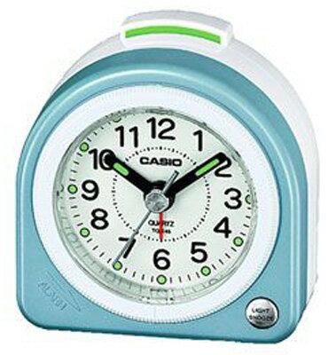 カシオ トラベルクロック コンパクト 置き時計 アナログ 目覚まし時計 おしゃれな ブルー 青(SCL16FB21BLU)アラビア数字 アラーム スヌーズ機能 ライト付き CASIO 旅行用 目覚まし時計