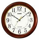 カシオ 電波時計 壁掛け時計 アナログ 掛け時計 おしゃれな 木目調デザイン ブラウン 茶 木枠ケース ホワイト 白 文字盤 アラビア数字(CL15JU55BRW)夜 秒針 音がしない 秒針停止機能 CASIO 電波掛け時計 静かな ウォールクロック