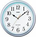 カシオ 電波時計 壁掛け時計 アナログ 掛け時計 おしゃれな シルバー 銀 ケース (CL15JU59) 見やすい アラビア数字 ホワイト 白 文字板 秒針 音がしない 秒針停止機能 CASIO 3針 ANALOG WALL CLOCK 静かな 電波掛時計 ウォールクロック