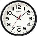 カシオ 電波時計 壁掛け時計 コンパクト アナログ 掛け時計 おしゃれな ブラック 黒 ケース (CL15JU60) シンプル 見やすい アラビア数字 ホワイト 白 文字盤 CASIO 小型 電波掛時計 置き時計にもなる自立スタンド付き ウォールクロック