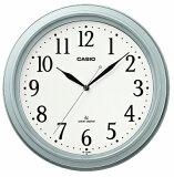 【送料無料】カシオ 電波時計 壁掛け時計 アナログ 掛け時計 アラビア数字 シルバー 銀(CL15JU70SLV)ホワイト 白 文字板 カシオ CASIO 3針 ANALOG WALL CLOCK 電波時計 掛け時計