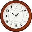 【送料無料】カシオ 電波時計 壁掛け時計 アナログ 掛け時計 アラビア数字 ブラウン 茶(CL16JL01BRW)ホワイト 白 文字板 秒針停止機能 LEDライト付き おしゃれな木目調デザイン CASIO 3針 ANALOG CLOCK 掛時計