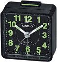 カシオ コンパクト 置時計 アナログ 目覚まし時計 おしゃれな ブラック 黒 (SCL16OC01) シンプル 見やすい アラビア数字 アラーム付き トラベルクロック CASIO 小型 卓上 置き時計 旅行用 目覚まし時計