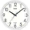 カシオ 電波時計 壁掛け時計 アナログ 掛け時計 おしゃれな ホワイト 白 文字盤 (CL17AU01) シンプル 見やすい アラビア数字 秒針 音がしない 秒針停止機能 CASIO 電波掛時計 静かな ウォールクロック