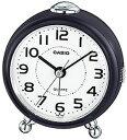 カシオ 置時計 アナログ 目覚まし時計 コンパクト おしゃれな ダークブラウン 濃茶 (SCL17NV01) シンプル 見やすい ホワイト 白 文字盤 アラビア数字 アラーム スヌーズ機能 ライト付き トラベルクロック CASIO 小型 置き時計 旅行用 目覚まし時計
