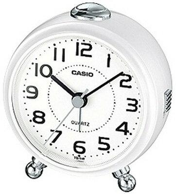 カシオ 置時計 アナログ 目覚まし時計 コンパクト おしゃれな ホワイト 白 (SCL17NV02) シンプル 見やすい アラビア数字 アラーム スヌーズ機能 ライト付き トラベルクロック CASIO 小型 卓上 置き時計 旅行用 目覚まし時計