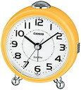 カシオ 置き時計 アナログ 目覚まし時計 コンパクト おしゃれな イェロー 黄色 (SCL17NV03) シンプル 見やすい ホワイト 白 文字盤 アラビア数字 アラーム スヌーズ機能 ライト付き トラベルクロック CASIO 小型 卓上 置き時計 旅行用 目覚まし時計
