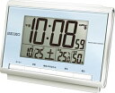 目覚まし時計 電波時計 コンパクト デジタル 置時計 おしゃれな ブルー 青 スヌーズ アラーム 日付 曜日 カレンダー 温度 湿度計 ライト付き 見やすい 大型液晶 セイコー トラベルクロック SEIKO 電波 置き時計 旅行用 目覚まし時計 (SCW17-P7701)