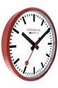 モンディーン スイス国鉄公式ウォールクロック 壁掛け時計 アナログ 掛け時計 ホワイト 白 ダイアル(A990.CLOCK.11SBC)レッド 赤 アルミケース MONDAINE おしゃれな インテリアクロック