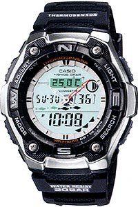カシオ スポーツウォッチ 20気圧防水 デジタル アナログ 魚釣り 腕時計(SD9OC02)月齢 ムーンデータ 温度計 ELライト付き フィッシングギア 釣り 時計 ランニングウォッチ カシオ CASIO マラソン ランニング ウォッチ 時計