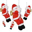 サンタクロースペンダント人形 吊り装飾用 単品 3D立体感 クリスマスツリー飾り ドアの装飾 クリスマスデコレーション ドアオーナメント