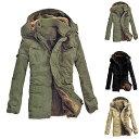 ショッピング防寒 ミリタリージャケット 中綿コート メンズ ジャケット ロング モッズコート 裏ボア 裏フリース 厚手 大きいサイズ あったか 防風 防寒着