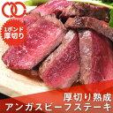 熟成 アンガスビーフ 厚切り サーロインステーキ 1ポンド【 牛肉 ステーキ肉 塊 熟成