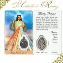 イエス・キリスト神の慈悲★メダイ入り奇跡のお守りカード★あす楽対応