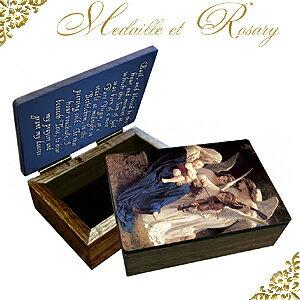 希少【歌を歌う天使達】エンジェル木製ロザリオケース小物入れ★あす楽対応