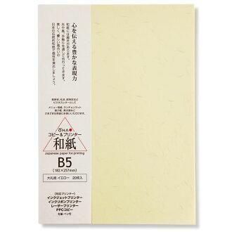 大礼紙_イエローB5(20枚入)