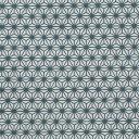 色鳥の子紙 シルク印刷麻の葉 紺×パール...