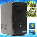 【中古】デスクトップパソコン DELL VOSTRO 430a Windows7 Core i3 540 3.07GHz メモリ4GB HDD160GB GeF...
