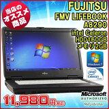 �����ᾦ�ʡ����šۥΡ��ȥѥ����� �ٻ��� FMV LIFEBOOK A8290 Windows7 15.6����� Celeron 900 2.20GHz ����2GB HDD160GB��̵��LAN��¢�ۡڥӥ��ͥ���ǥ�ۡ�����̵������Kingsoft Office 2010���ȡ���Ѥߡ�