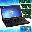 【中古】ノートパソコン 富士通(FUJITSU) LIFEBOOK A553/HX Windows7 15.6インチ Intel Celeron 1000M 1.80GHz メモリ2GB HDD500GB【無線LAN・Bluetooth搭載】【テンキー付キーボード】【ビジネスモデル】■Kingsoft Office 2010ライセンスカード付★送料無料!