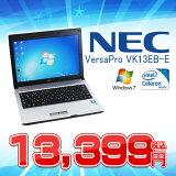 ����š�NEC VersaPro VK13EB-E��̵��LAN��� ���̷�B5��Х���Ρ���PC ������HDD250GB ��DVD�ɥ饤��̵����