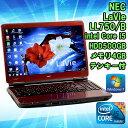 【限定1台!】【中古】ノートパソコン NEC LaVie LL750/B レッド Windows7 16インチ(解像度1366×768) Core i5 M450 2.4GHz メモリ4GB HDD5