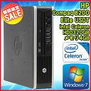 【スーパーSALE】【中古】 デスクトップパソコン HP Compaq(コンパック) 8200 Elite USDT(ウルトラスリム) Windows7 Celeron G530 2.40GHz メモリ4GB HDD320GB DVD-ROMドライブ WPS Office 初期設定済 送料無料 (一部地域を除く) エイチピー