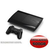 【中古】[本体][PS3]プレイステーション3 HDD500GB チャコール・ブラック(CECH-4200C)(20130901)【RCP】