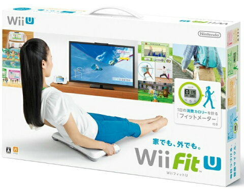 【中古】[ACC][WiiU]Wii Fit U バランスWiiボード(シロ) + フィットメーター(ミドリ) セット 任天堂(WUP-R-ASTJ)(20140201)