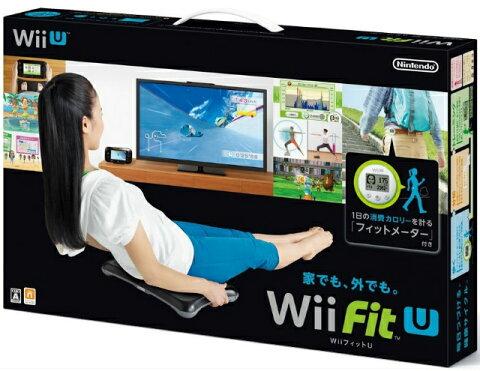 【中古】[ACC][WiiU]Wii Fit U バランスWiiボード(クロ) + フィットメーター(ミドリ) セット 任天堂(WUP-W-ASTJ)(20140201)