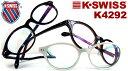 【3780円 K-SWISS 度付きメガネセット】メガネ/眼鏡/めがね/PCメガネ/度付き/度なし/フレーム/ブルーライトカットレンズ対応/pc用レンズ対応/パソコン メガネ/セル/ボストン/パソコン用メガネ/おしゃれ【K-SWISS NEW MODEL】K-4292(60)【RCP】