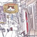ショッピングマンハッタナーズ マンハッタナーズ メガネ拭き MX300MAN MAN 19【猫を主人公としたアート】【ワイピングクロス】【日本製】