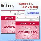 リーズナブル眼鏡レンズシリーズ持ち込みフレームのレンズ交換も歓迎!眼鏡レンズITO(イトーレンズ)コンフル160(2枚1組)(薄型球面レンズ)