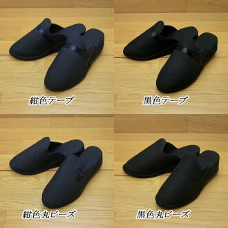 Heel slippers in Navy Blue and black