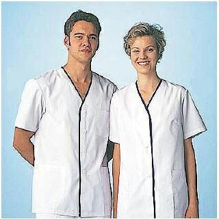 男性用デザイン白衣 半袖 FA-347 L 【 ...の商品画像