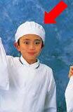 学童給食帽子[ホワイト]SKV363 【 学童給食衣 】