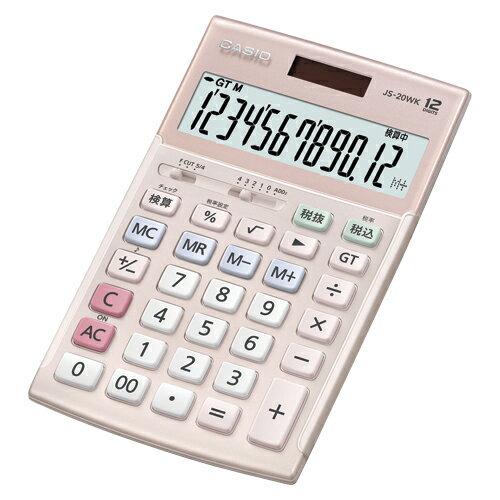【まとめ買い10個セット品】電卓 JS-20WK-PK ピンク 1台 カシオ