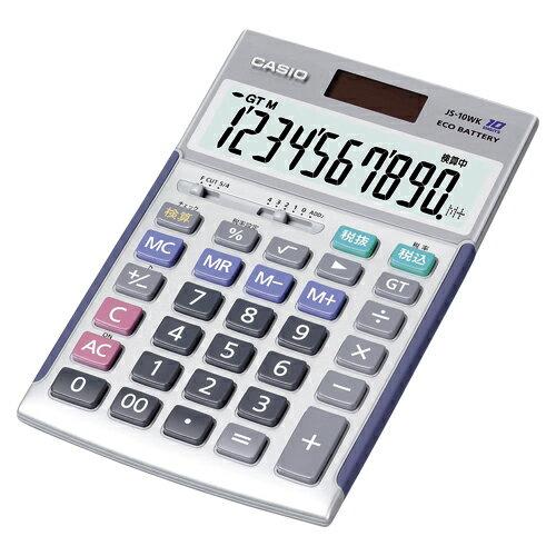 【まとめ買い10個セット品】電卓 JS-10WK 1台 カシオ【 オフィス機器 電卓 電子辞書 電卓 】